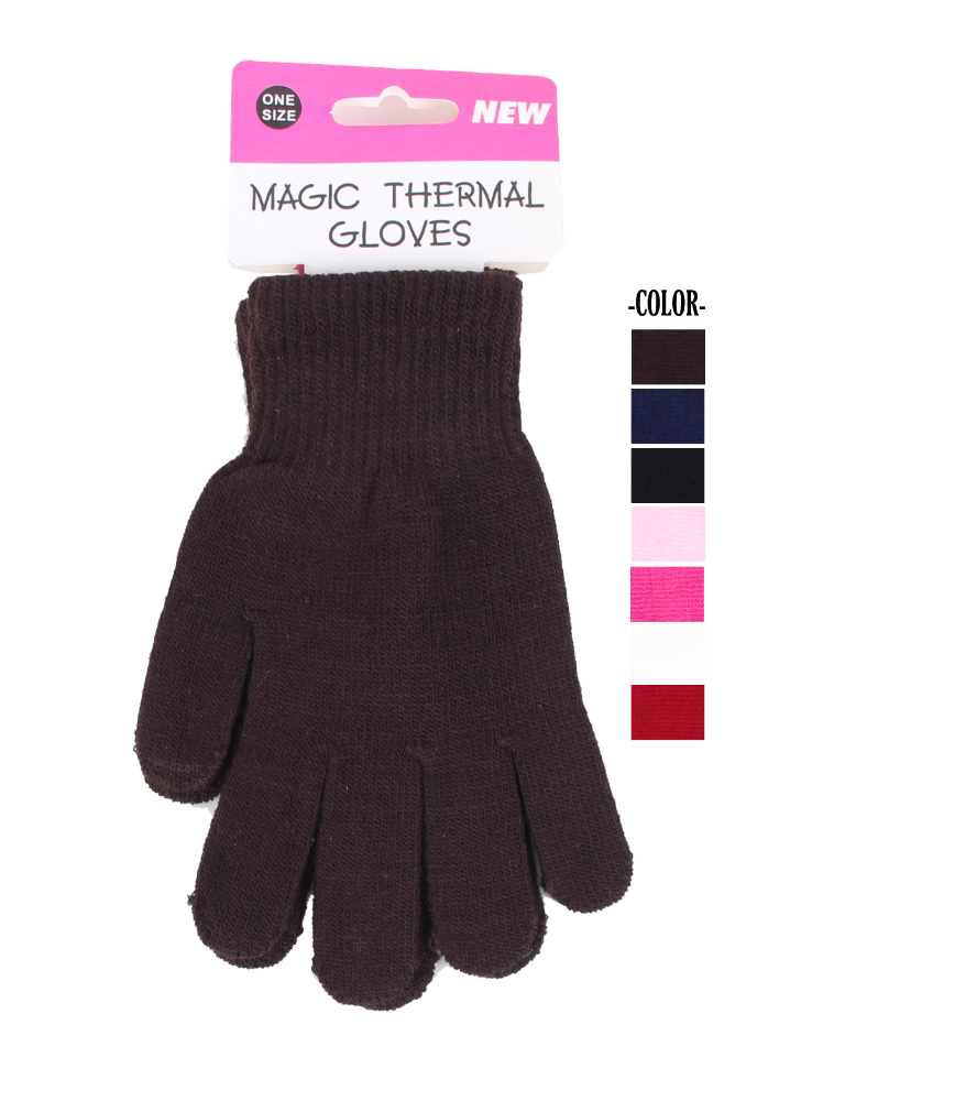 One Size Assorted colour Magic Thermal Gloves